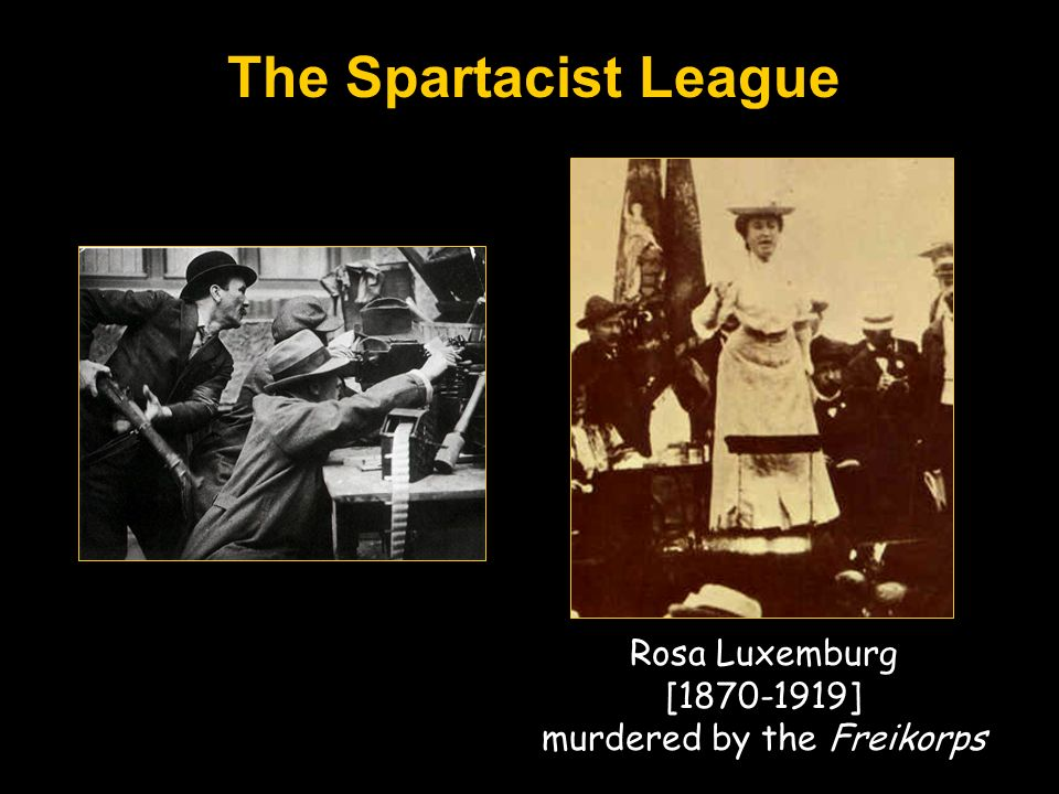 Rosa Luxemburg [1870-1919] murdered by the Freikorps